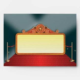 Acontecimiento de la carpa del teatro sobres