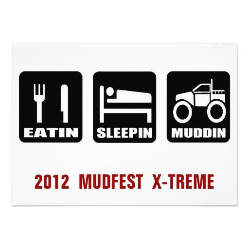 Acontecimiento de Mudding del camión del Fest 4x4  Invitacion Personalizada