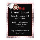 Acontecimiento del casino flyer personalizado