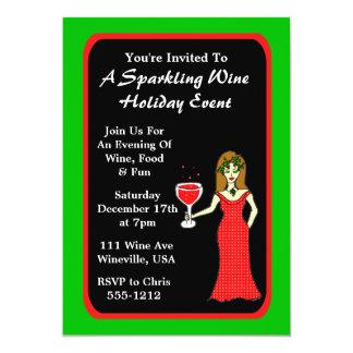 """Acontecimiento del día de fiesta del vino espumoso invitación 5"""" x 7"""""""