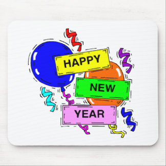 Acontecimiento del fiesta de la Feliz Año Nuevo Tapete De Ratones