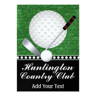 Acontecimiento del golf - SRF Invitaciones Personalizada