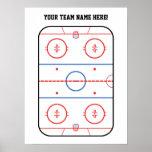 Acontecimiento del juego de hockey póster