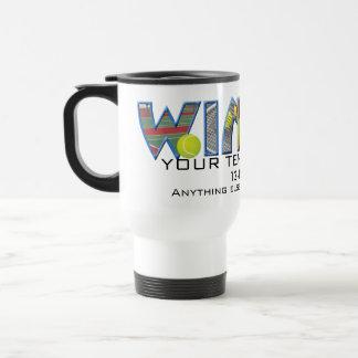 Acontecimiento Editable del tenis: Ganador Taza De Café