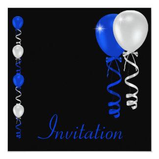 """Acontecimiento especial de los globos del negro invitación 5.25"""" x 5.25"""""""
