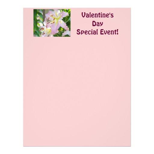 """¡Acontecimiento especial del el día de San Valentí Folleto 8.5"""" X 11"""""""