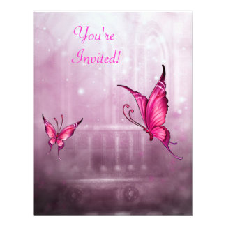 Acontecimiento etéreo de la mariposa del rosa de l comunicados personales