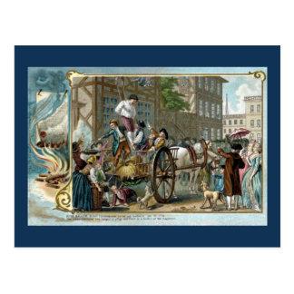 Acontecimiento histórico de la sublevación tarjetas postales