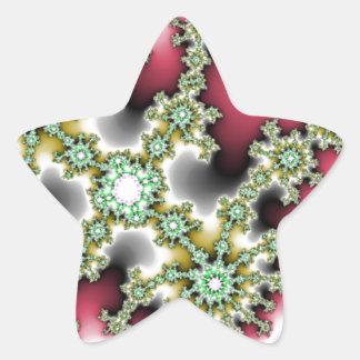 Acontecimiento microscópico pegatina en forma de estrella