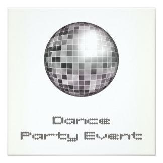 Acontecimiento Mirrorball de plata blanco del Anuncios Personalizados