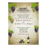 Acontecimiento rústico del boda del viñedo de la invitación 12,7 x 17,8 cm