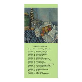Acontecimientos de diciembre tarjeta publicitaria
