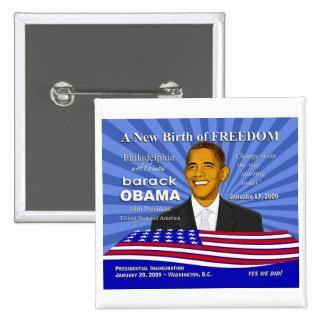 Acontecimientos de la inauguración de Obama - Pin  Pin Cuadrada 5 Cm