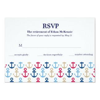 """Acontecimientos de la marina de guerra de RSVP Invitación 5"""" X 7"""""""