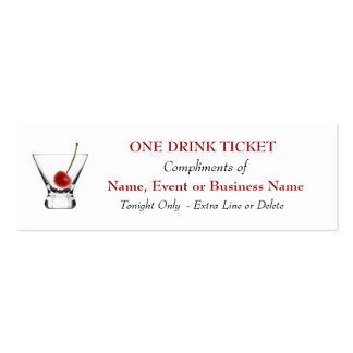 Acontecimientos especiales de la bebida de la tarjetas de visita mini