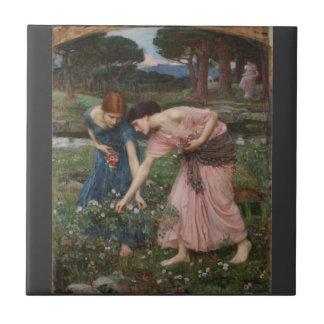 Acopio de capullos de rosa de John William Waterho Teja Ceramica