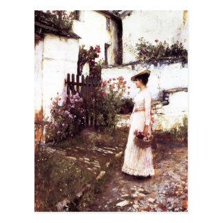 Acopio de las flores del verano por el Waterhouse Tarjeta Postal