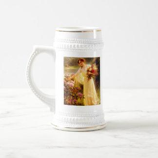 Acopio de las flores jarra de cerveza