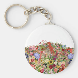 Acopio de las flores llavero redondo tipo pin