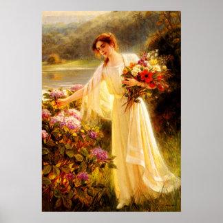 Acopio de las flores póster