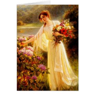Acopio de las flores tarjeton
