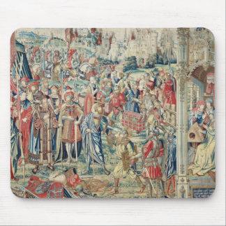 Acopio del botín, de la tapicería de David y de Ba Alfombrillas De Ratón