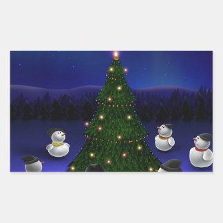 Acopio fresca abstracta de los muñecos de nieve rectangular altavoces