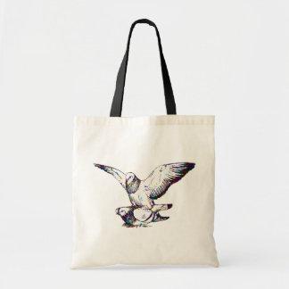 Acoplamiento de las palomas bolsa lienzo