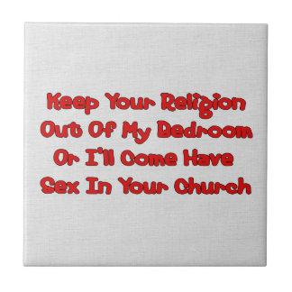 Acoplamiento en su iglesia azulejo cerámica
