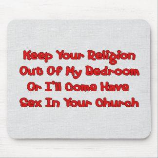 Acoplamiento en su iglesia mouse pads