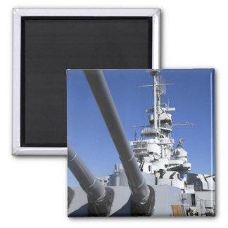Acorazado de USS Alabama en el monumento del acora Imán Para Frigorifico