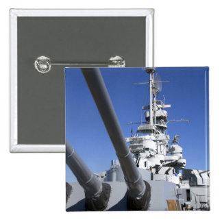 Acorazado de USS Alabama en el monumento del acora Pin Cuadrada 5 Cm