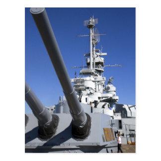 Acorazado de USS Alabama en el monumento del Tarjetas Postales