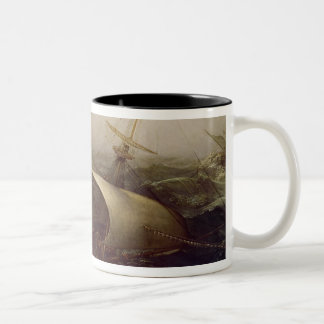 Acorazado holandés en una tormenta taza de dos tonos