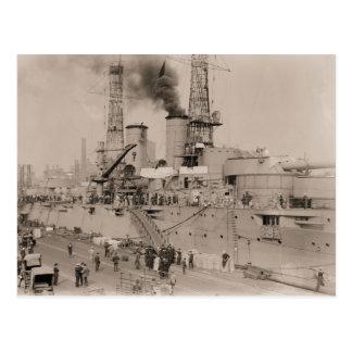 acorazado USS NUEVA YORK de la foto del vintage qu Postal