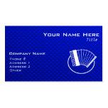 Acordeón azul plantillas de tarjetas personales