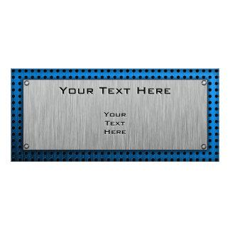 Acordeón cepillado de la metal-mirada tarjeta publicitaria