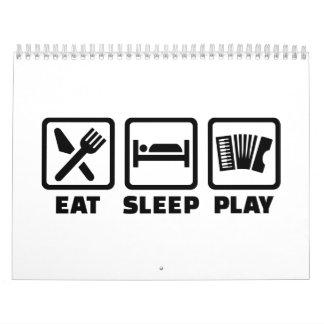 Acordeón de Eat Sleep Play Calendarios