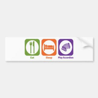 Acordeón de Eat Sleep Play Pegatina Para Auto