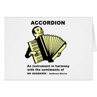 Acordeón (definido chistoso) tarjeta de felicitación