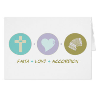 Acordeón del amor de la fe felicitacion