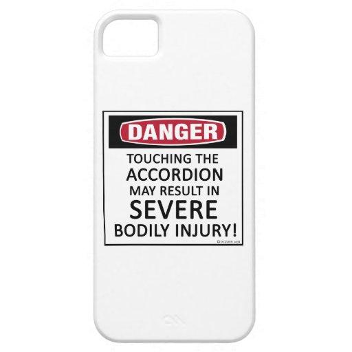 Acordeón del peligro iPhone 5 Case-Mate cárcasa