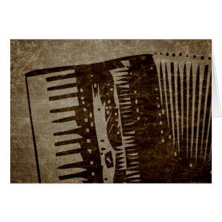 acordeón del vintage tarjeta de felicitación