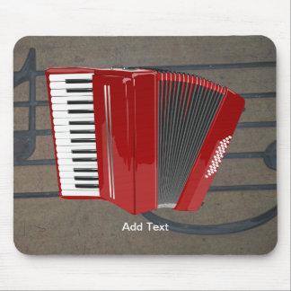 Acordeón: La plantilla roja del acordeón Tapetes De Ratones