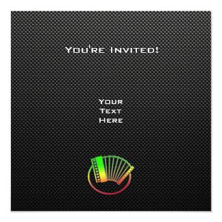 "Acordeón liso invitación 5.25"" x 5.25"""