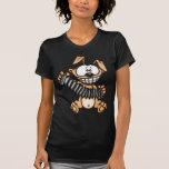 Acordeón que juega el perro del dibujo animado camisetas
