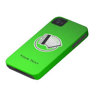 Acordeón verde iPhone 4 Case-Mate carcasa