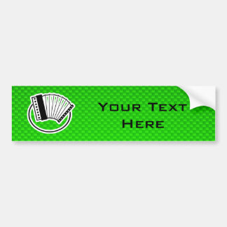 Acordeón verde pegatina para auto