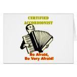 Acordeonista certificado felicitaciones
