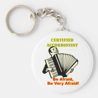 Acordeonista certificado llaveros